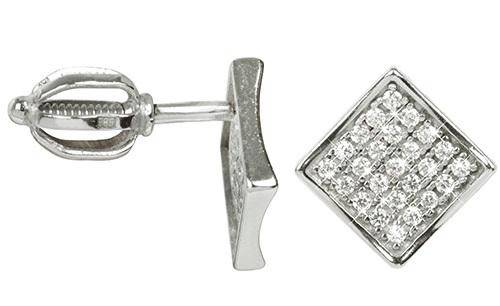 Brilio Náušnice z bílého zlata s krystaly 239 001 00574 07 - 1,45 g