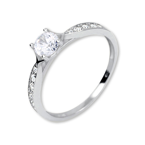 Brilio Inel frumos cu cristale 229 001 00753 07 53 mm