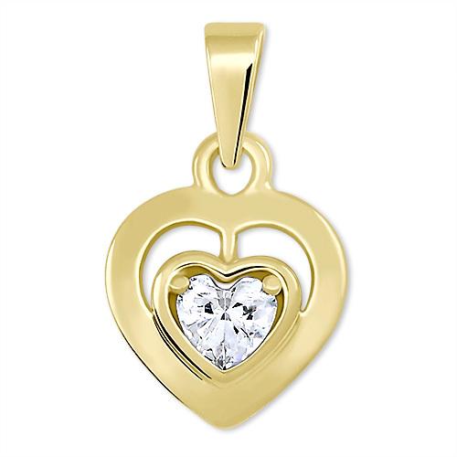 9a0a24d07 Brilio Romantický prívesok zo žltého zlata Srdce 246 001 00471 - 0,90 g