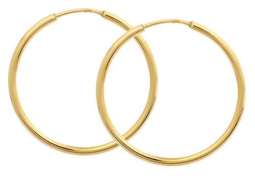 Brilio Zlaté náušnice kruhy 231 001 00428 - 1,50 g