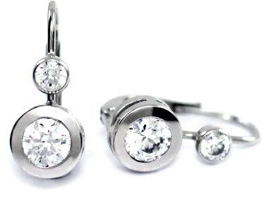 Brilio Zlaté náušnice s krystaly 239 001 00344 07 - 2,15 g