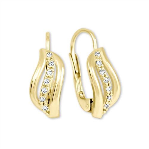 Brilio Zlaté náušnice s krystaly 239 001 00688 - 1,85 g