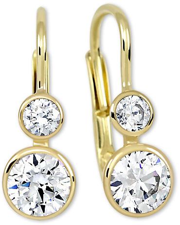 Brilio Zlaté náušnice s krystaly 239 001 00825 - 2,05 g