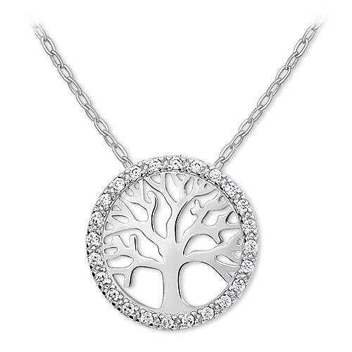 Brilio Zlatý náhrdelník Strom života s krystaly 279 001 00090 07 - 2,45 g (řetízek, přívěsek)