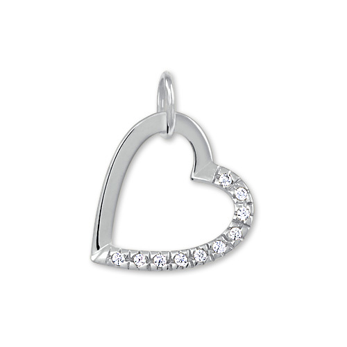Brilio Zlatý přívěsek srdce s krystaly 249 001 00494 07 - 0,60 g