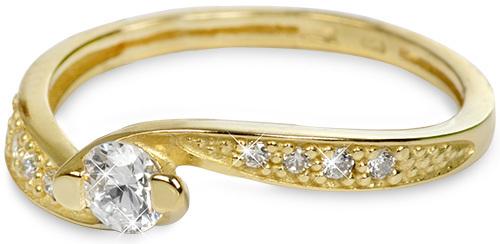 Brilio Zlatý prsten s krystaly 229 001 00458 54 mm