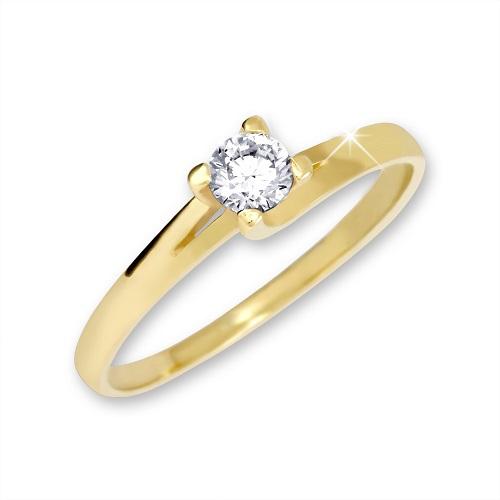 Brilio Zlatý zásnubní prsten 223 001 00090 - 1,80 g 51 mm