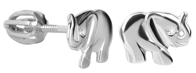 Brilio Silver Dětské stříbrné náušnice Slůně 431 001 02267 04 - 1,34 g