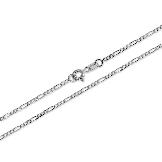 Brilio Silver Jemný řetízek ze stříbra Figaro 42 cm 471 086 00168 04 - 1,62 g