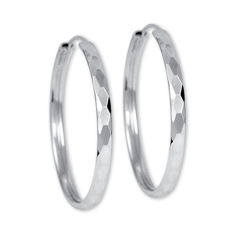 Brilio Silver Náušnice stříbrné kruhy 431 158 00027 - 3,74 g