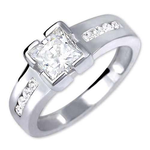 Brilio Silver Stříbrný zásnubní prsten 426 001 00416 04 - 3,06 g 50 mm
