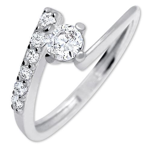Brilio Silver Pěkný zásnubní prsten 426 001 00435 04 - 1,65 g 50 mm