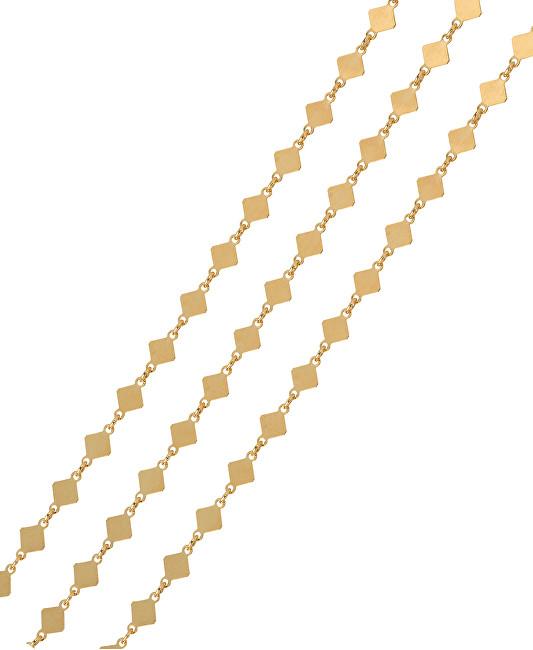Brilio Silver Pozlátený náhrdelník sa štvorčeky 45 cm 473 080 00027 05 -  2 18936065fa4