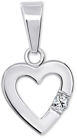 Brilio Silver Romantický přívěsek Srdce s krystalem 446 001 00367 04
