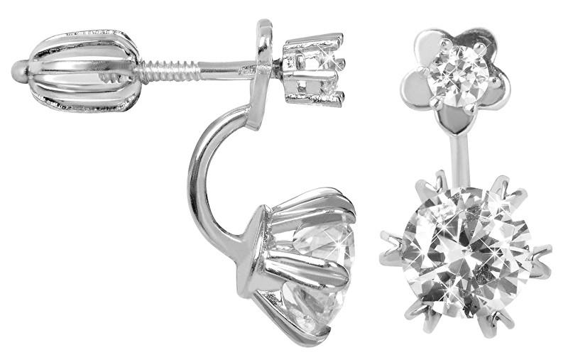 Brilio Silver Stříbrné dvojité náušnice 436 001 00421 04 - 2,98 g