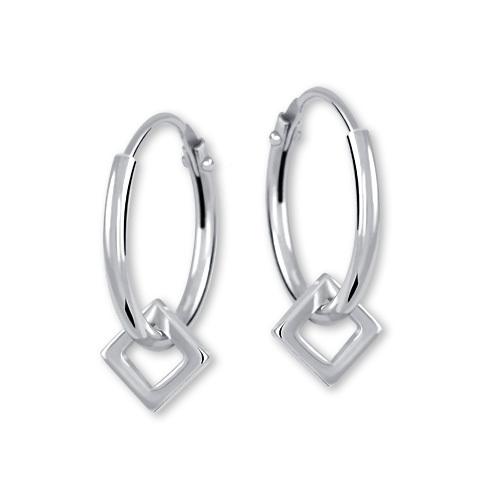 Brilio Silver Stříbrné náušnice kroužky 431 001 02498 04 - 0,97 g