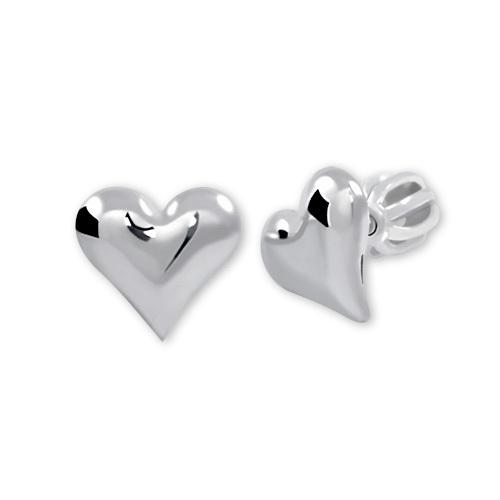 Brilio Silver Stříbrné náušnice Srdce 431 001 00440 04 - 0,97 g
