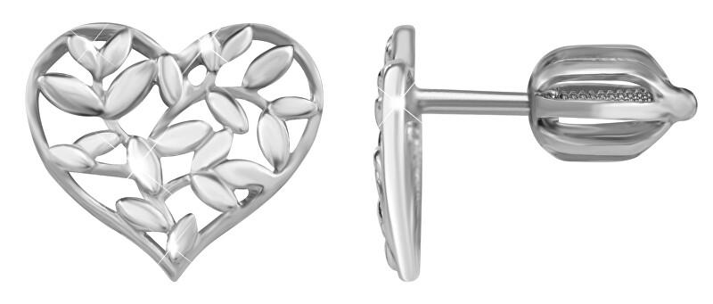 Brilio Silver Strieborné náušnice Srdce 431 001 02762 04