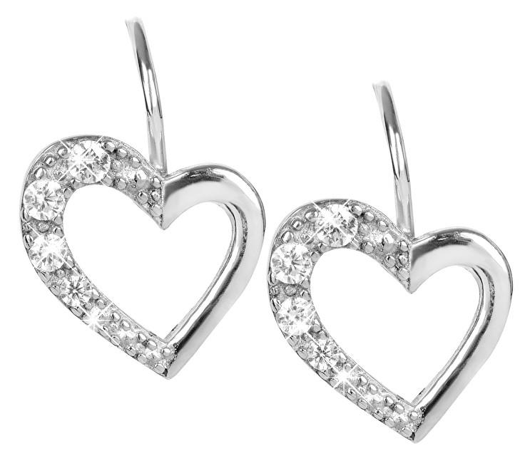 Brilio Silver Stříbrné náušnice Srdce 436 001 00405 04 - 1,43 g
