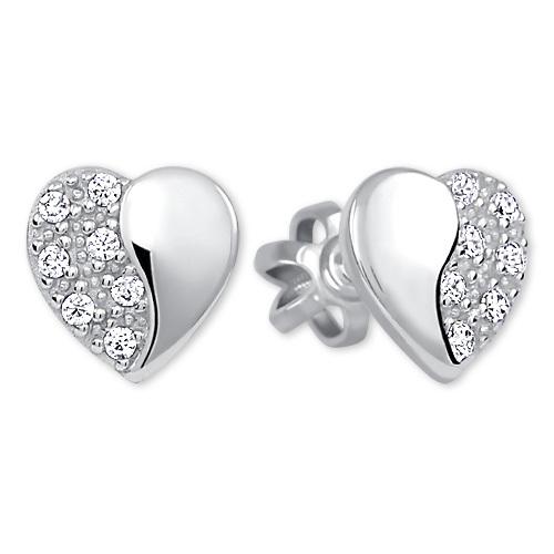 Brilio Silver Stříbrné náušnice Srdce 436 001 00432 04 - 0,95 g