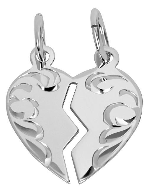 Brilio Silver Stříbrný přívěsek pro páry 441 001 01480 04