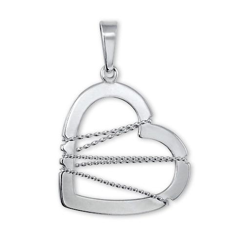 Brilio Silver Stříbrný přívěsek Srdce s drátkem 441 001 02063 04 - 1,22 g