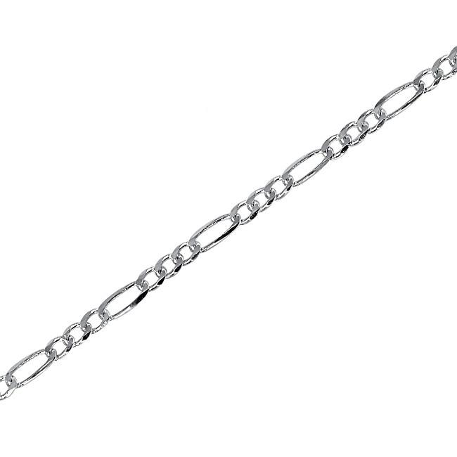 Brilio Silver Stříbrný řetízek Figaro 42 cm 471 086 00159 04 - 3,90 g