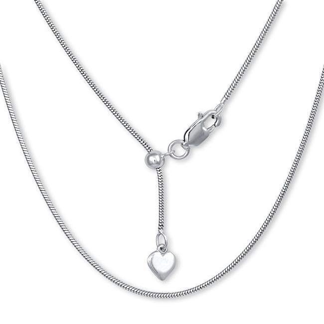 Brilio Silver Stříbrný řetízek Hádek se srdíčkem 60 cm 471 086 00124 04 - 6,21 g