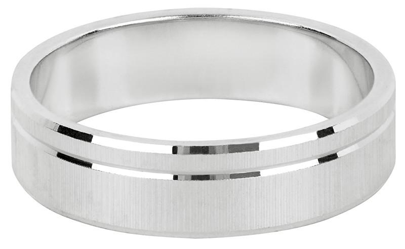 Brilio Silver Stříbrný snubní prsten pro muže a ženy 422 001 09073 04 - 4,84 g 49 mm