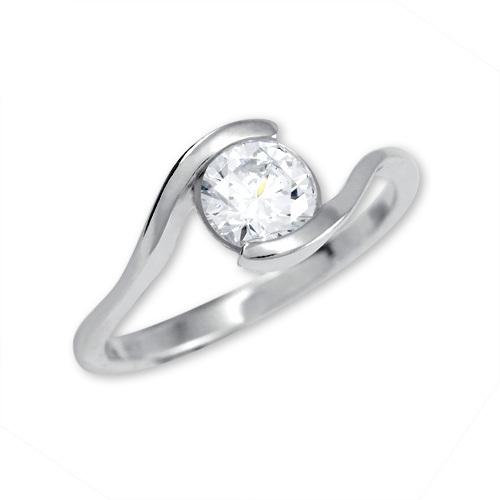 Brilio Silver Stříbrný zásnubní prsten 426 001 00422 04 - 1,98 g 50 mm