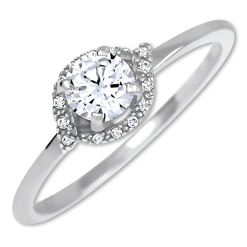 Brilio Silver Stříbrný zásnubní prsten 426 001 00531 04 48 mm