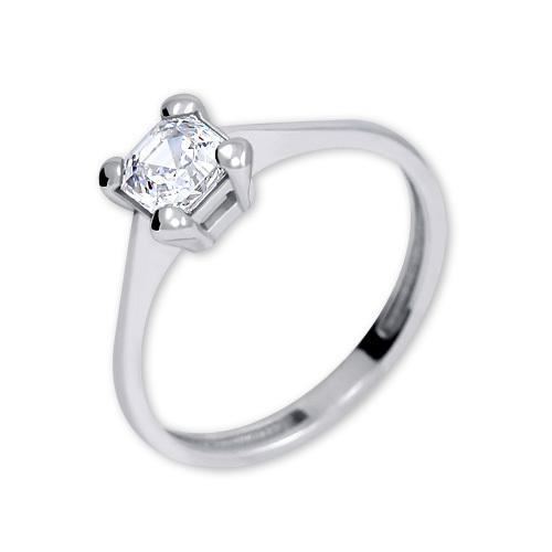 Brilio Silver Stříbrný zásnubní prsten s krystalem 426 001 00427 04 - 1,62 g 50 mm