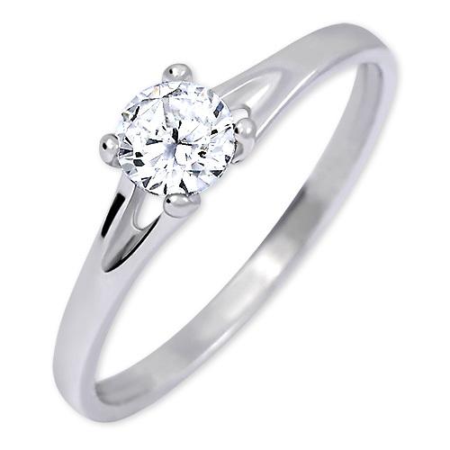 Brilio Silver Stříbrný zásnubní prsten s krystalem 426 001 00508 04 - 1,35 g 56 mm