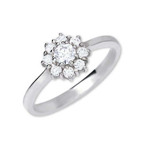 Brilio Silver Stříbrný zásnubní prsten 426 001 00432 04 - čirý - 2,30 g 50 mm