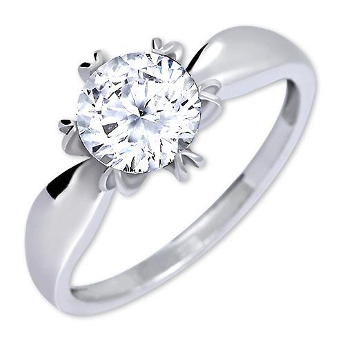 Brilio Silver Výrazný zásnubní prsten 426 001 00502 04 - 2,13 g 50 mm