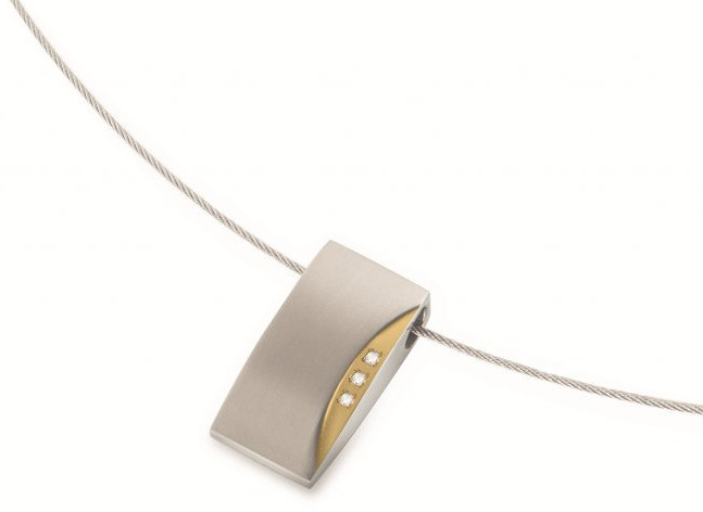 Boccia Titanium Bicolor titánový prívesok s pravými diamantmi 0793-04