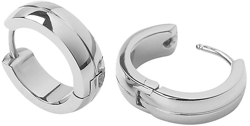 Boccia Titanium Lesklé náušnice kroužky z titanu 0539-05