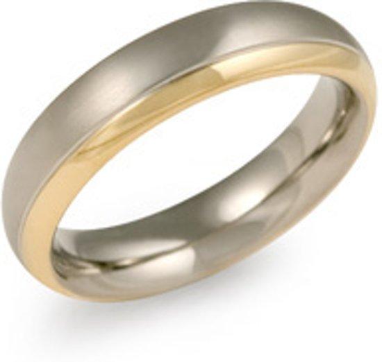 Boccia Titanium Pozlacený titanový snubní prsten 0130-08 53 mm