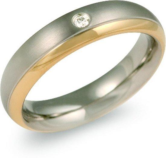 Boccia Titanium Pozlacený titanový snubní prsten s diamantem 0130-12 50 mm