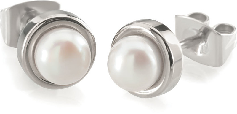 Boccia Titanium Titanové náušnice s perlou 0594-01