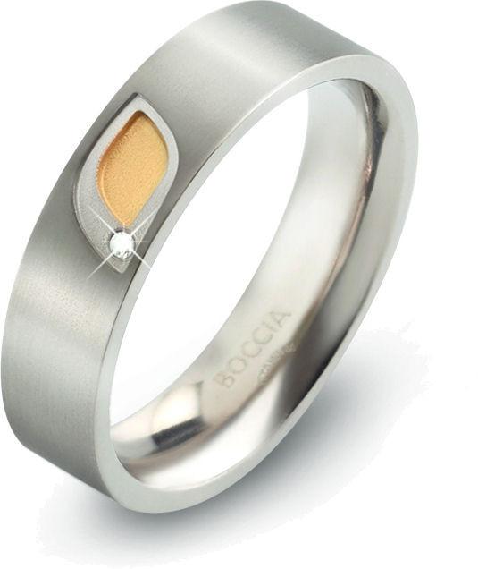 Boccia Titanium Titanový prsten s briliantem 0146-01 49 mm
