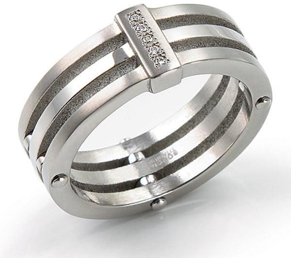 Boccia Titanium Titanový prsten s diamanty 0126-01 53 mm