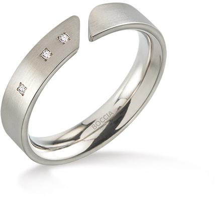 Boccia Titanium Titanový prsten s diamanty 0140-02 53 mm