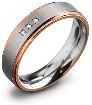 Boccia Titanium Titanový snubní prsten 0134-02 56 mm