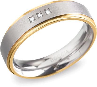 Boccia Titanium Titanový snubní prsten 0134-04 48 mm