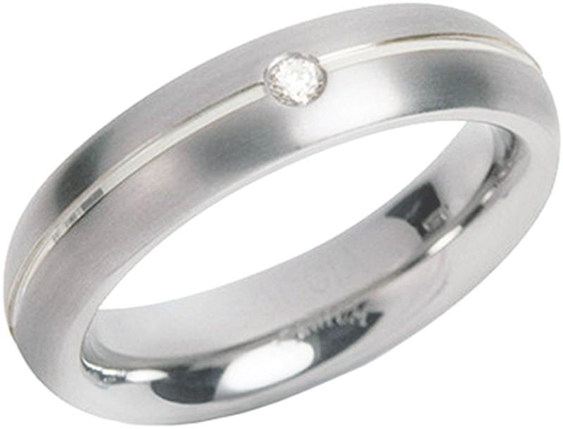 Boccia Titanium Titanový snubní prsten s diamantem 0130-05 50 mm