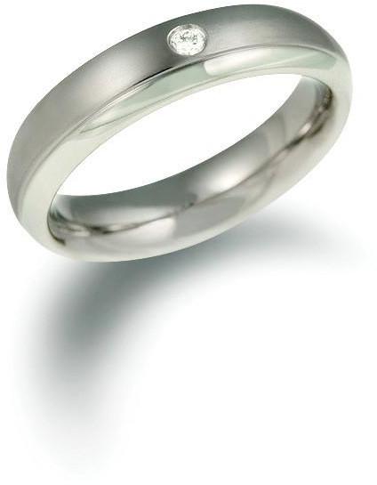 Boccia Titanium Titanový snubní prsten s diamantem 0130-11 50 mm
