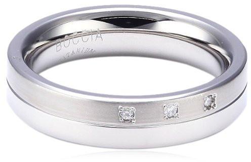 Boccia Titanium Titánový snubný prsteň s diamantmi 0129-03 58 mm