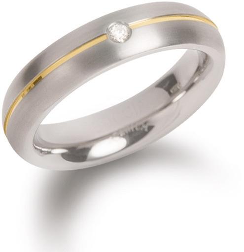 Boccia Titanium Titánový snubný prsteň s diamantom 0130-06 53 mm
