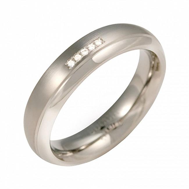 Boccia Titanium Titanový snubní prsten s diamanty 0130-09 50 mm